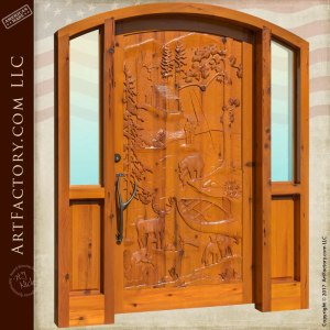 cabin entrance door