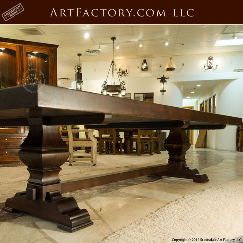 Custom Solid Wood Dining Table Handmade By Master