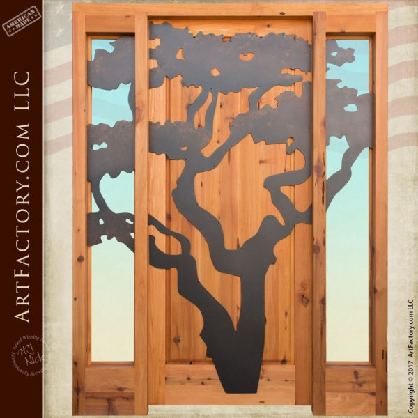 Custom Oak Tree Door