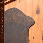 wood iron glass door