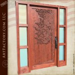 hand carved custom door