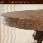 Round Dining Table In Original Hand Crafted 17th Cen
