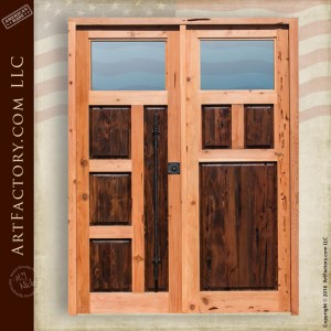 custom contemporary double doors