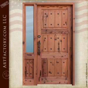 Solid Wood Fortress Security Door