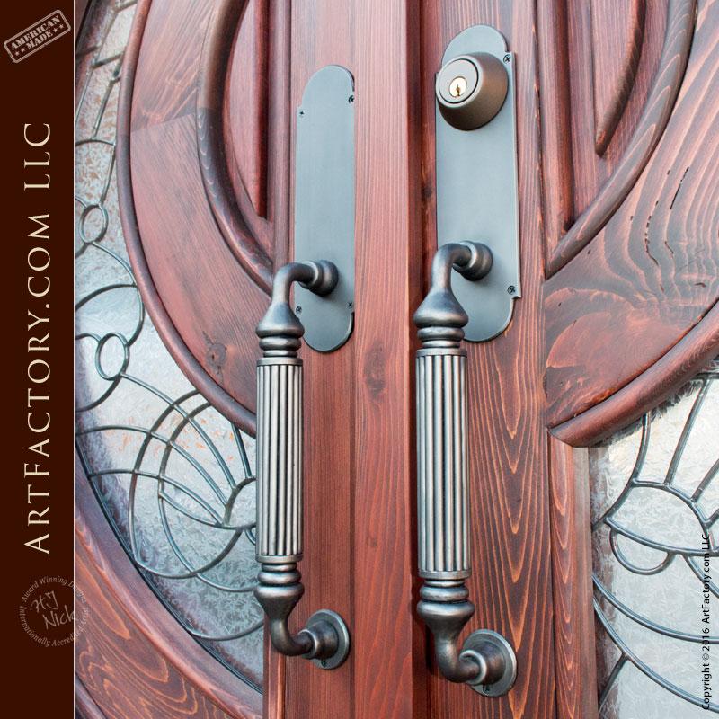 elegant fluted door pulls