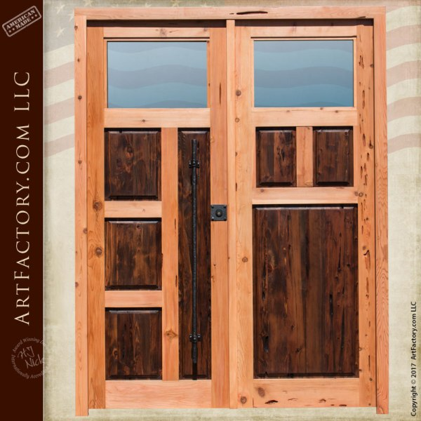 Custom Solid Wood Contemporary Doors Made In America