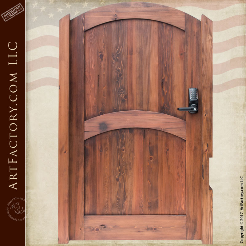 Solid Wood Entry Gate: Maximum Security With Digital Keypad Protection U2013  3186GG
