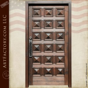 grand entrance wood panel door