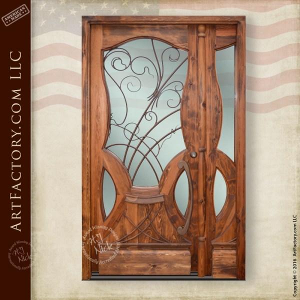 custom art nouveau door  jules lavirotte inspired design