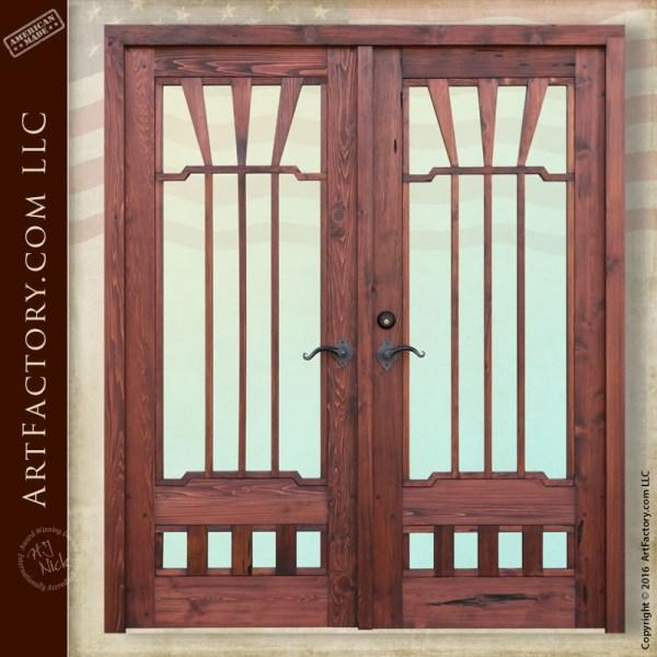 Greene & Greene inspired doors