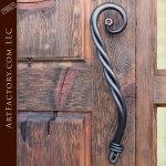 custom wood entrance door