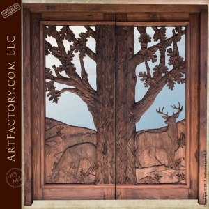 hand carved cabin doors hand carved doors log cabin doors