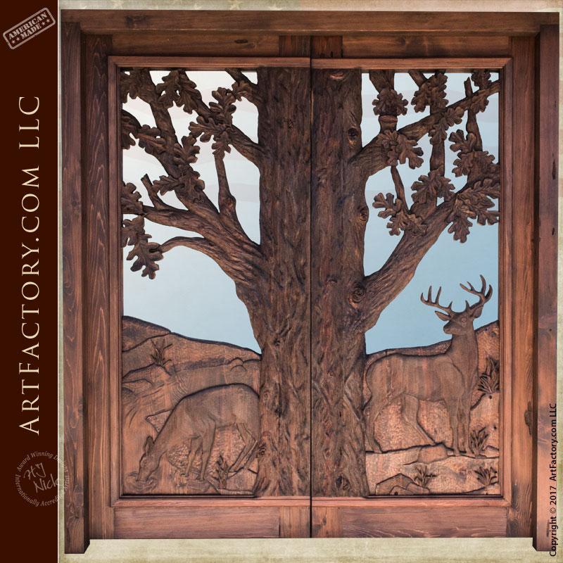 hand carved cabin entrance door & Doors: America\u0027s Oldest Manufacturer of Fine Art Doors