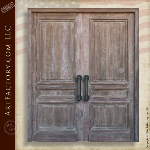Custom Wooden Double Doors Master Handcrafted In The Usa