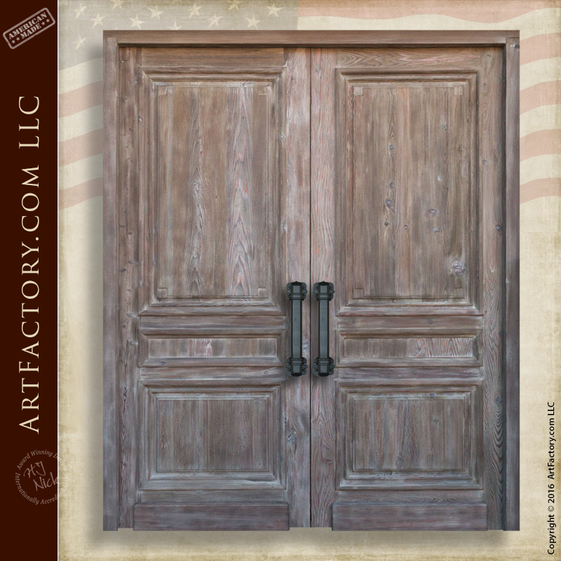 Custom Wooden Double Doors Master Handcrafted In The USA u2013 2215CDJ & Custom Wood Doors: Hand Hewn Mortise And Tenon Joined