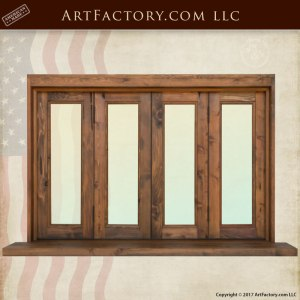 custom windows, solid wood frame