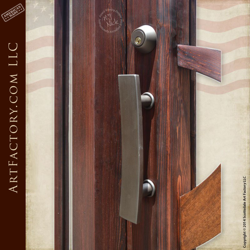 modern art style door with modern Art Deco door handles