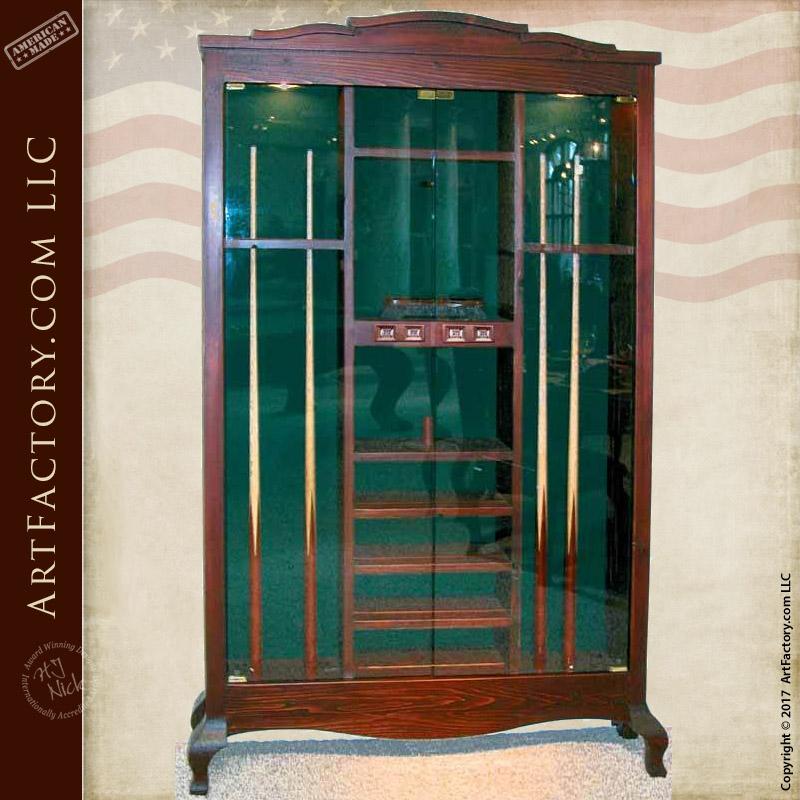 pool cue cabinets custom furniture