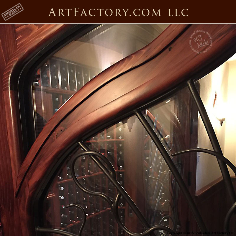 Art Nouveau wine cellar door