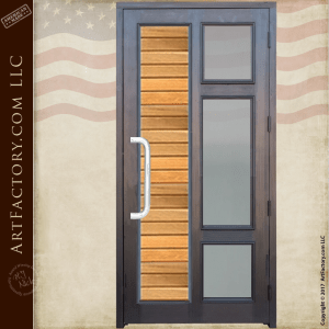 contemporary custom front door Glass Panel Door