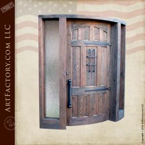 custom curved front entrance door decorative glass sidelights
