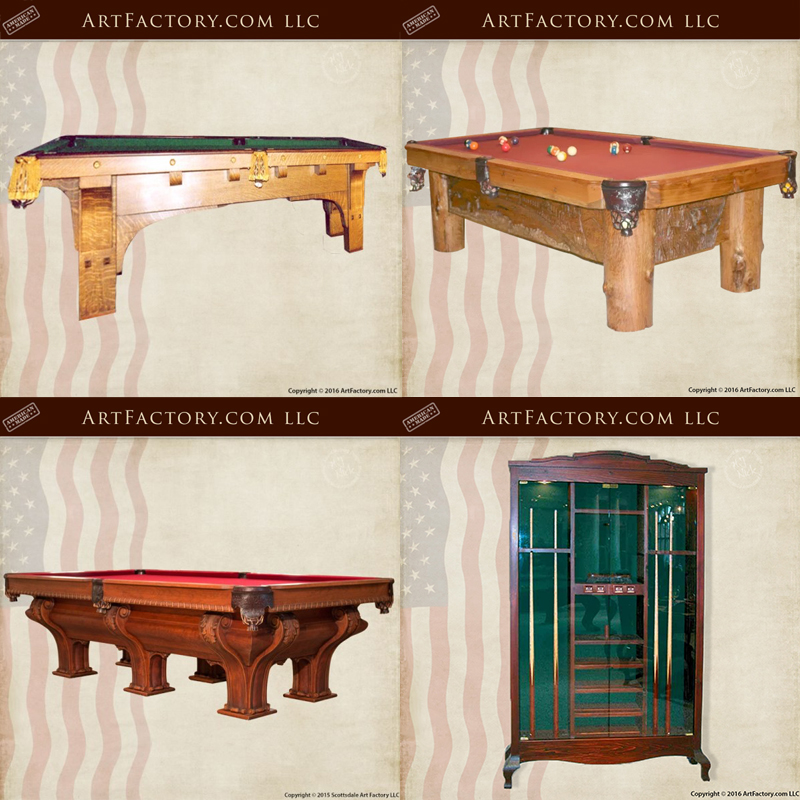 custom pool tables and cue cabinets