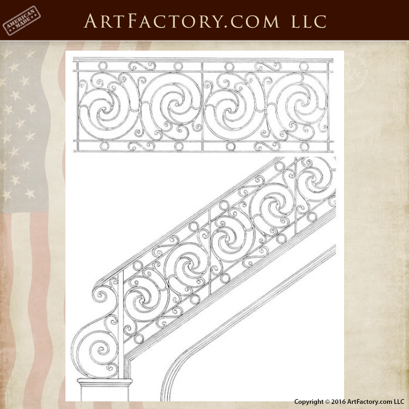 security handrail stair railing design drawings