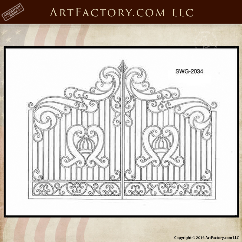 Wrought Iron Gate design drawings