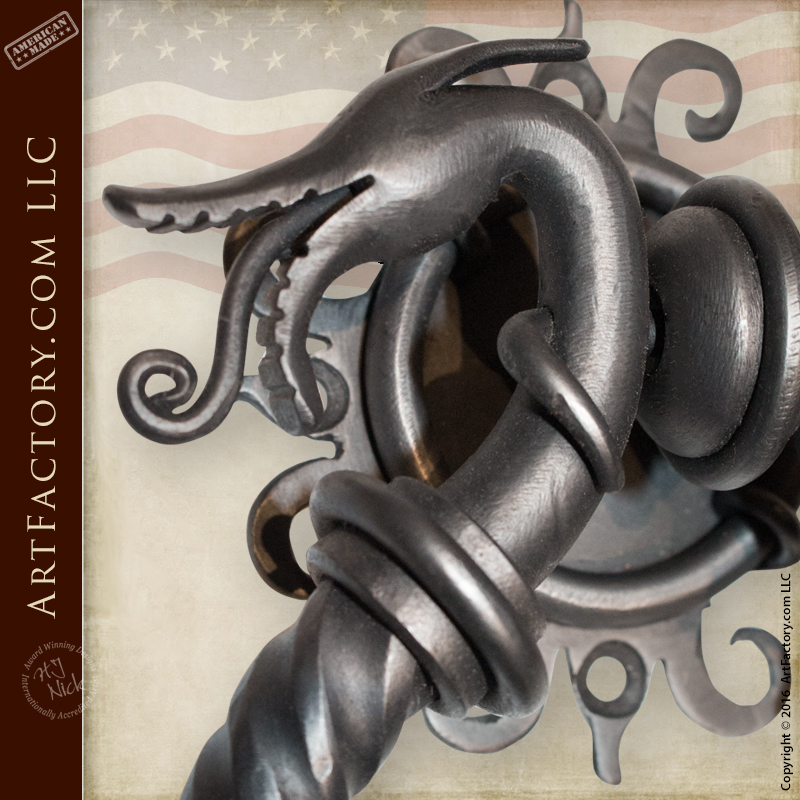 Medieval Dragon Door Knocker