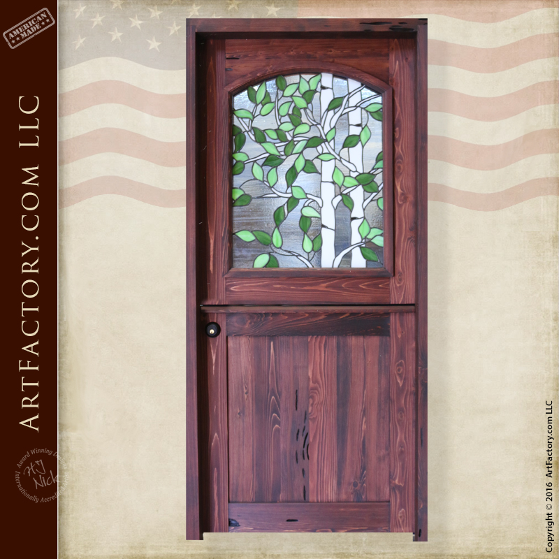 Beau Stained Glass Dutch Door: Custom Aspen Tree Fine Art Window U2013 DD5647