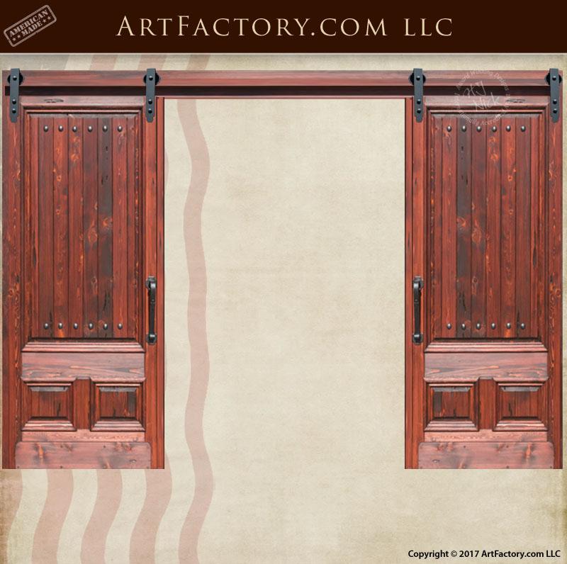 Custom Sliding Wood Doors Open