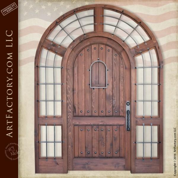 arched grand entrance door