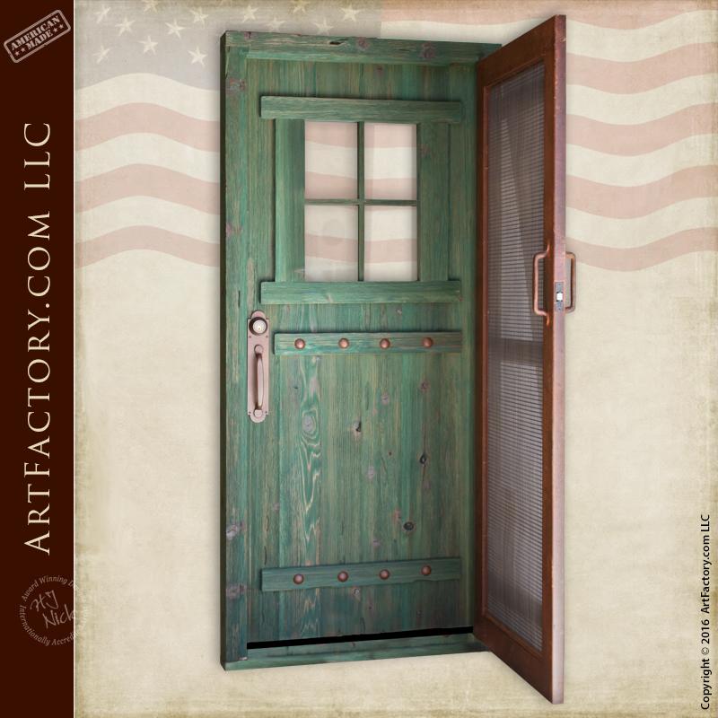 custom double security door