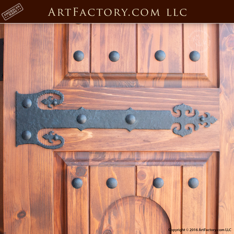 Medieval Style Strap Hinges: Blacksmith Hand Forged Wrought Iron U2013 HS1423