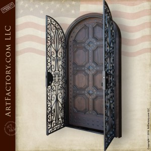 custom decorative security door