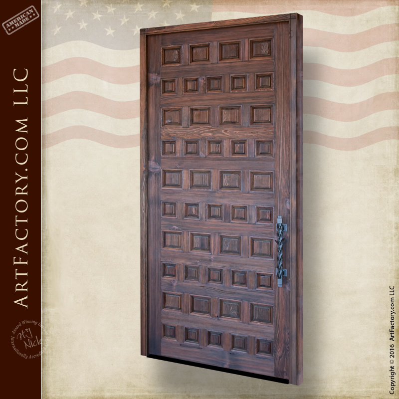 Custom Variable Sized Wood Panel Door: Unique Symmetrical Design U2013 RPD9181