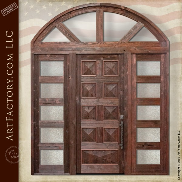 raised grain pyramid panel door