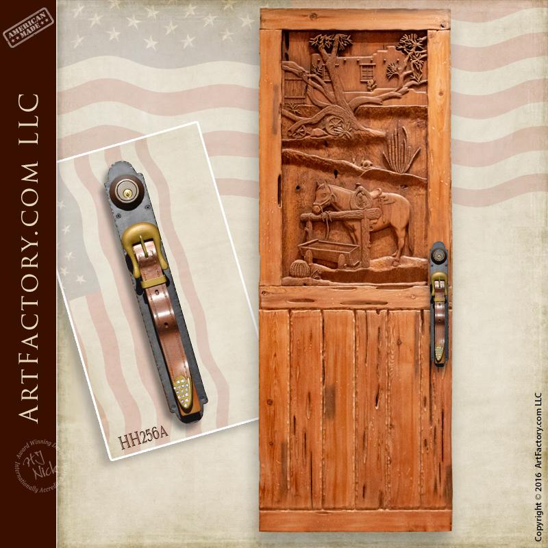 western carved door