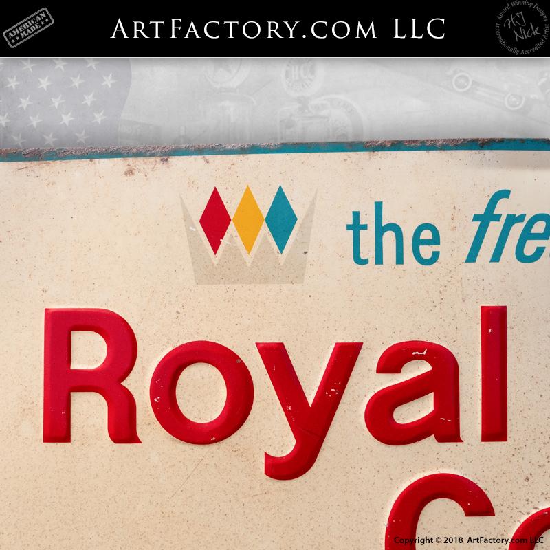 Vintage Royal Crown Cola Sign