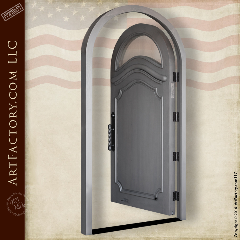 Custom Arched Front Door With Arch Top Window And Custom