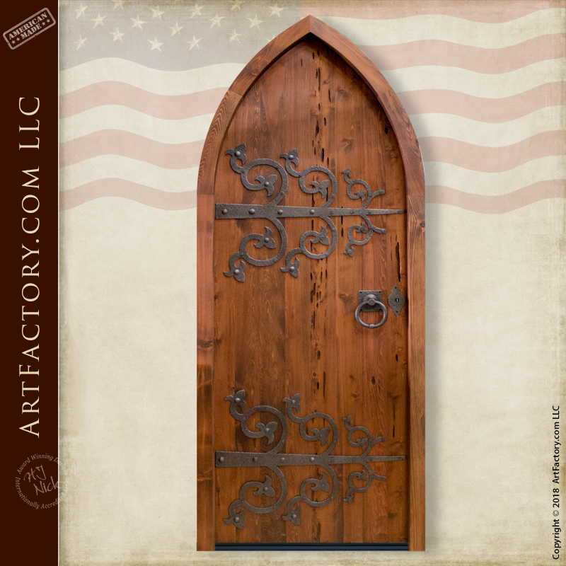custom cathedral arched door