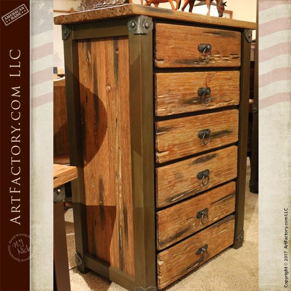 Western Style highboy dresser