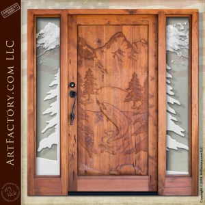 Astounding Log Cabin Doors Solid Wood With Hand Forged Hardware Home Interior And Landscaping Ologienasavecom