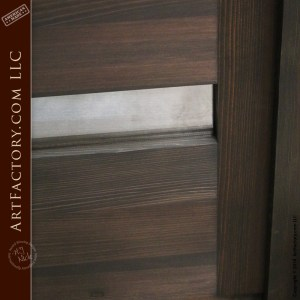 contemporary glass panel door