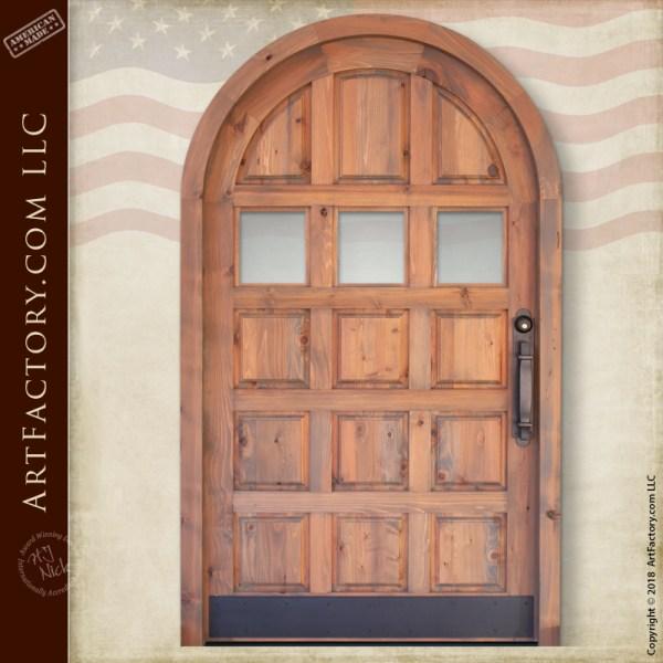 Arched Wood Panel Door