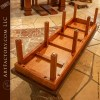 custom cherry wood workout bench