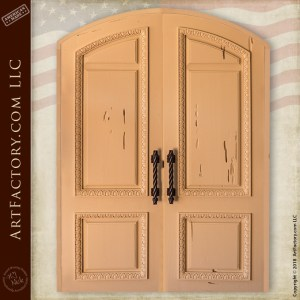 arched Victorian double doors