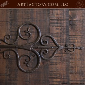 custom gothic double doors with medieval Spanish hinge straps