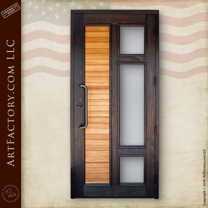 contemporary custom front door