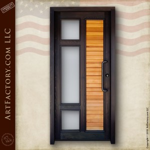 Contemporary Custom Front Door Solid Wood Door With Glass